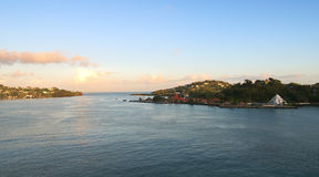Saint Lucia tropical island - Castries harbor. Saint Lucia tropical island - Caribbean sea - Castries harbor royalty free stock photos