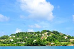 Saint Lucia. View of houses and vegetation in Saint Lucia Stock Photos