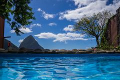 Beautiful Private Pool royalty free stock image