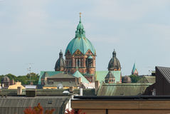 Saint Lukas Church and Munich Rooftops Royalty Free Stock Image