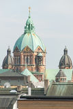 Saint Lukas Church and Munich Rooftops II Royalty Free Stock Photography