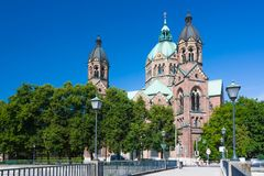 Saint Luke in Munich Stock Photos