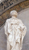 Saint, Lunette of San Petronio Basilica in Bologna, Italy Stock Images