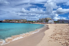 Saint Maarteen Coast, Dutch Antilles Stock Images