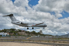 Saint Maarten Airport, Dutch Antilles Stock Images