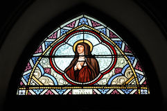 Saint Mabine de couleur en verre souillé Images libres de droits