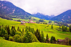 Saint Magdalena in Val Funes landscape view Royalty Free Stock Photography