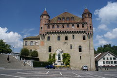 Saint Maire Castle in Lausanne Royalty Free Stock Photo