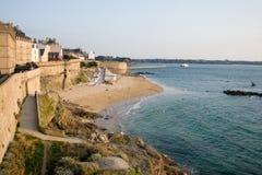 Saint Malo. The beach of Saint Malo (Bretagne-france Stock Images