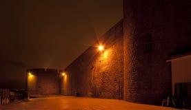 Saint Malo alla notte immagini stock