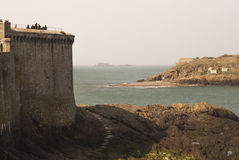 Saint Malo beach Royalty Free Stock Photos