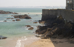 Saint Malo beach Royalty Free Stock Photography