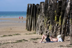 Saint Malo beach Royalty Free Stock Photo