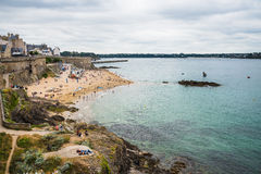 Saint-Malo Beach Royalty Free Stock Images