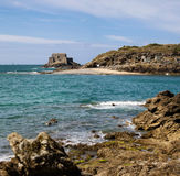 Saint Malo beach and sea Royalty Free Stock Images