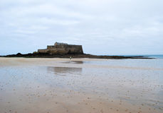 Saint Malo beach. During winter in France royalty free stock image