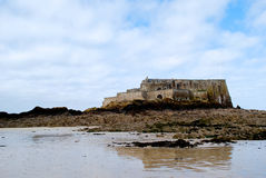 Saint Malo beach. During winter in France royalty free stock images