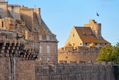 Saint Malo, Brittany, France. Castle of Saint Malo, Brittany, France royalty free stock image