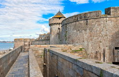 Saint Malo, Brittany, France. Castle in harbor of Saint Malo, Brittany, France stock photo