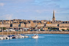 Saint Malo, Brittany, France. Harbor of Saint Malo, Brittany, France Stock Photos