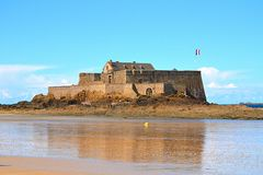 Saint Malo Castle west of France Stock Image