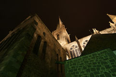 Saint-Malo Cathedral at night-- Brittany, France Royalty Free Stock Image