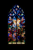 Saint Malo church. Vitrage of the famous medieval St Malo church in historic Dinan Stock Images
