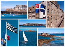 Saint Malo collage Stock Image