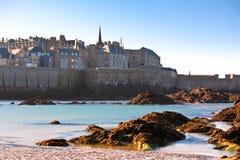 Saint Malo do mar Fotos de Stock Royalty Free