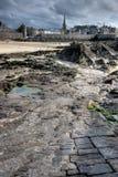 Saint Malo e rochas Foto de Stock