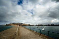 Saint Malo en zijn haven, Bretagne, Frankrijk Royalty-vrije Stock Foto