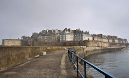 Saint Malo in a foggy day Royalty Free Stock Photo
