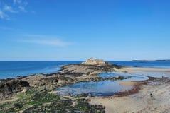 Saint-Malo. Fort National seen from Saint-Malo beach Stock Photo