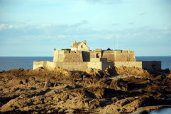 Saint Malo, Fort National at sunset Stock Images