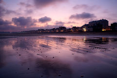 Saint Malo, France. Grand Plage in the morning in Saint Malo, France Royalty Free Stock Photo
