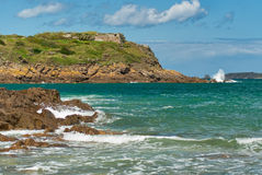 Saint-Malo, France, rock, surf Stock Image