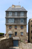 Saint Malo. House of the istorical city of Saint Malo, France Stock Image