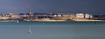 Saint Malo Intra Muros Panorama Royalty Free Stock Photos