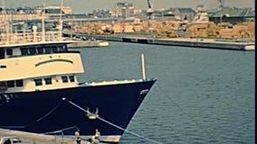 Saint Malo -Kriegsschiff stock footage