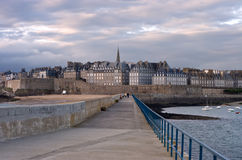 Saint Malo Late Afternoon Royalty Free Stock Photography