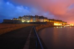 Saint malo by night Stock Images