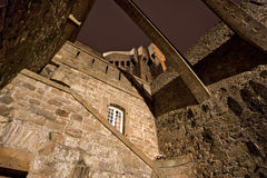 Saint-Malo at night-- Brittany, France Stock Photography