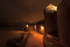 Saint-Malo at night. France Royalty Free Stock Photo