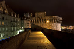 Saint-Malo at night, France Stock Images