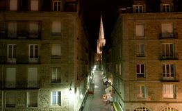Saint-Malo at night, France Stock Photo