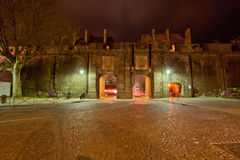 Saint-Malo at night-- France Royalty Free Stock Photos