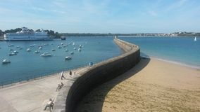 Saint Malo port Royalty Free Stock Photos