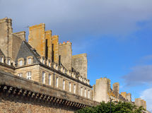 Saint Malo ramparts and typical chimneys of the ancient city (Brittany France) Royalty Free Stock Photos