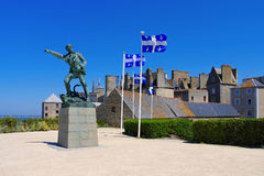 Saint-Malo Robert Surcouf Memorial in Brittany Royalty Free Stock Images