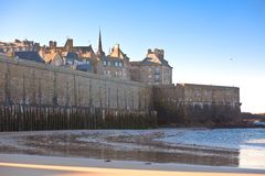 Saint Malo from the sea Stock Image